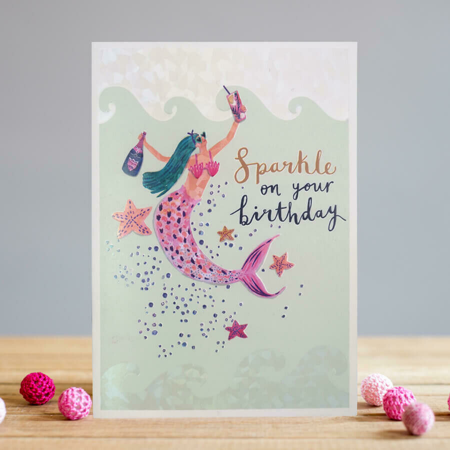 "CARTE DE VŒUX ""SPARKLE ON YOUR BIRTHDAY"""