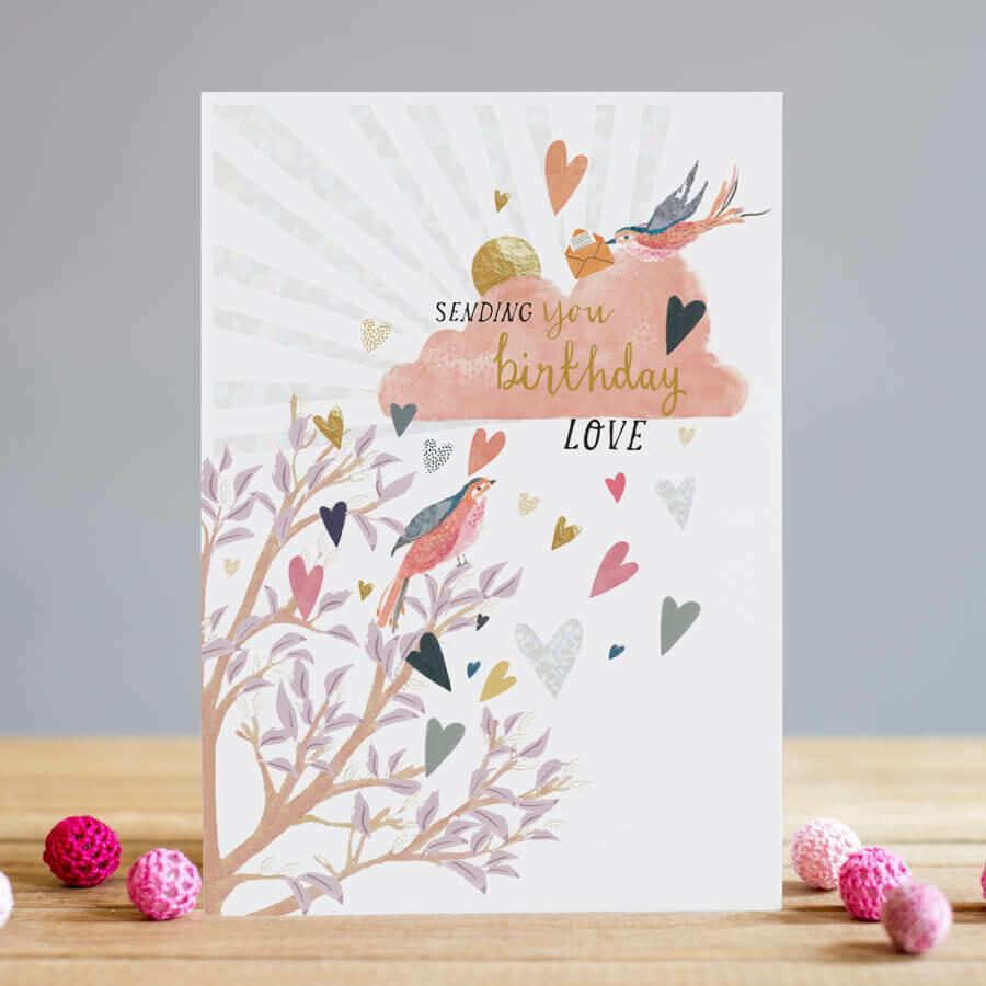 """CARTE DE VŒUX """"BIRTHDAY LOVE"""""""