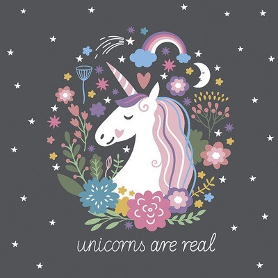 "CARTE DE VŒUX ""UNICORNS ARE REAL"""