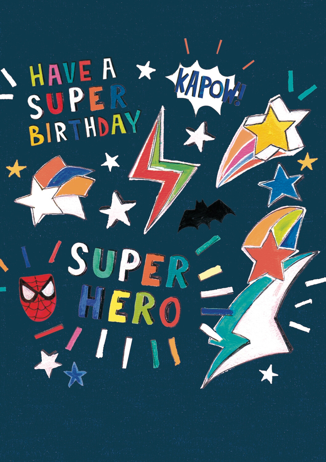 "CARTE DE VŒUX ""SUPER HERO BIRTHDAY """