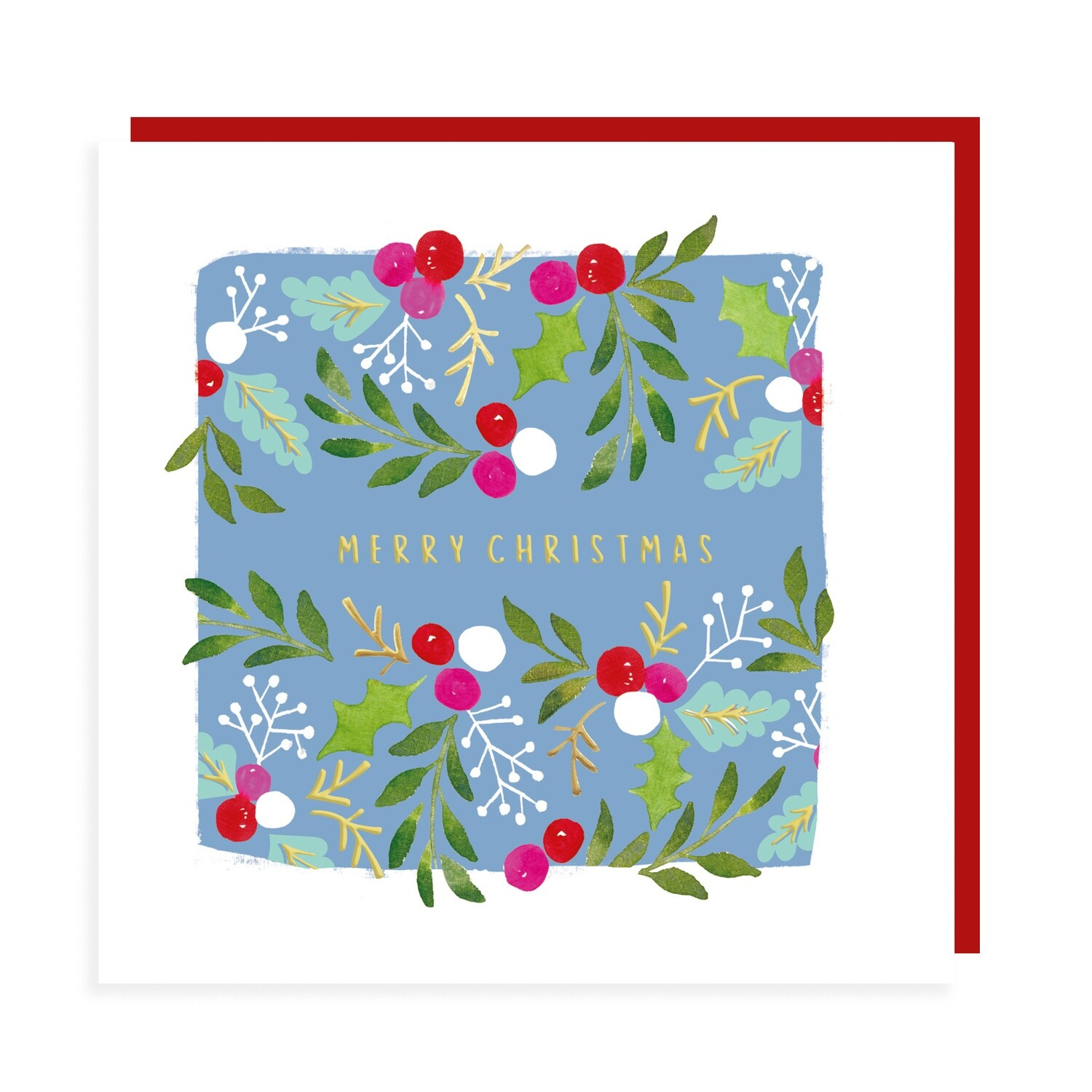 "CARTE DE NOËL ""MERRY CHRISTMAS"""