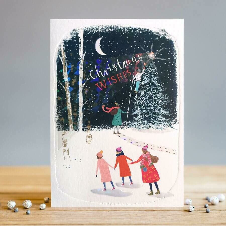 "CARTE DE VŒUX ""CHRISTMAS WISHES"""