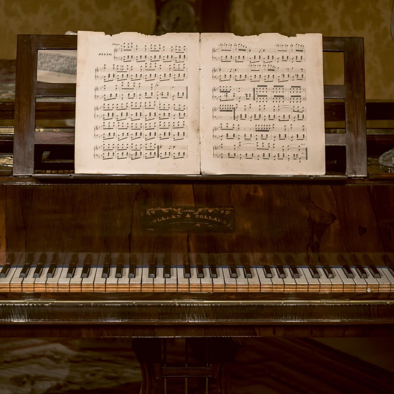 "CARTE DE VŒUX ""PIANO"""