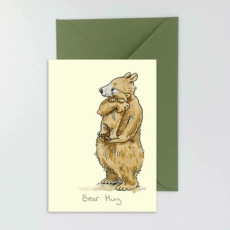 """CARTE DOUBLE """"BEAR HUG"""""""