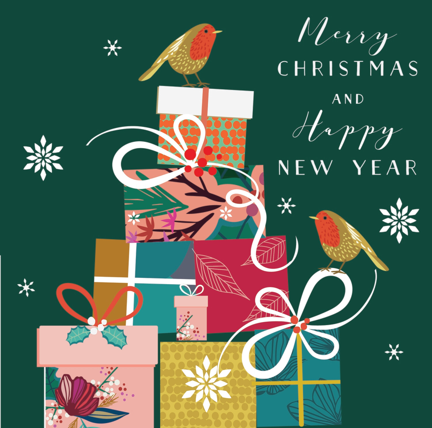 """CARTE DE VŒUX """"MERRY CHRISTMAS AND HAPPY NEW YEAR"""""""