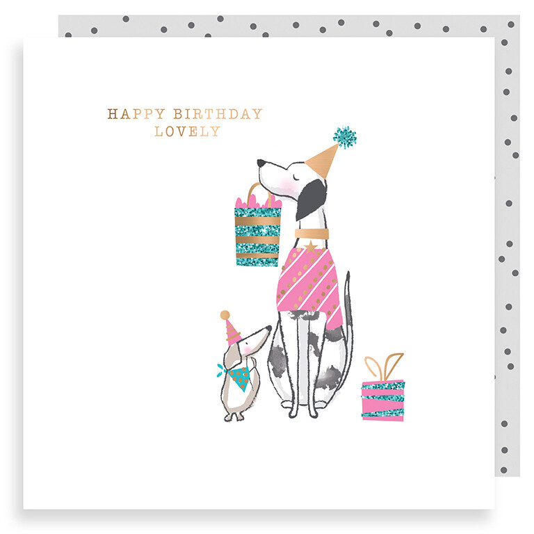 "CARTE DE VŒUX ""HAPPY BIRTHDAY LOVELY"""