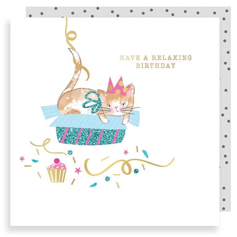 "CARTE DE VŒUX ""RELAXING BIRTHDAY"""