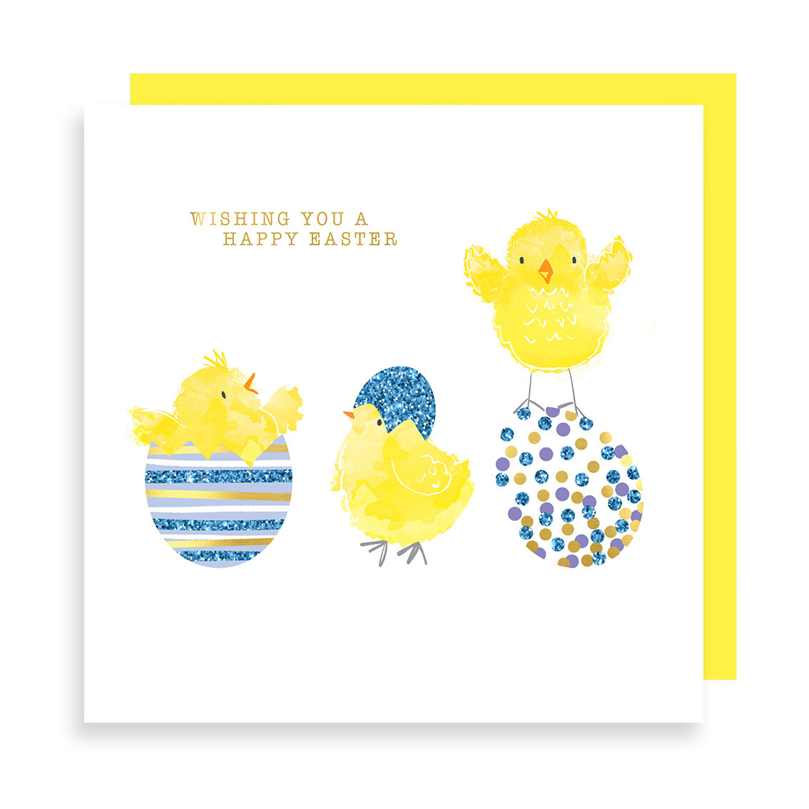 "CARTE DE VŒUX ""WISHING YOU A HAPPY EASTER"""