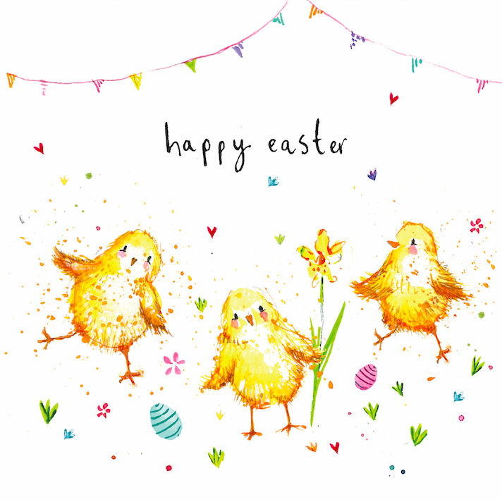 "CARTE DE VŒUX ""HAPPY EASTER"""