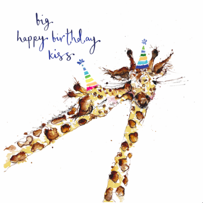 "CARTE DE VŒUX ""BIG HAPPY BIRTHDAY KISS"""