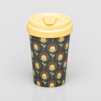 """BAMBOO CUP """"SUNFLOWERS"""""""