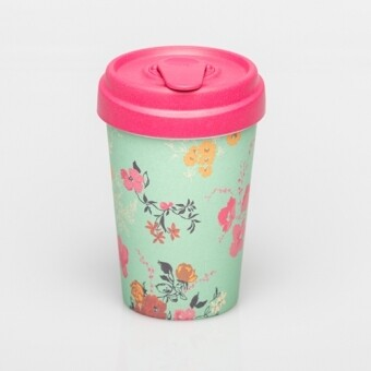"""BAMBOO CUP """"FLOWER PATTERN"""""""