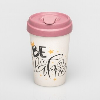 "BAMBOO CUP ""BE HAPPY"""