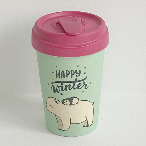 "BAMBOO CUP ""HAPPY WINTER"""