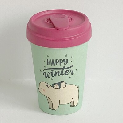 """BAMBOO CUP """"HAPPY WINTER"""""""