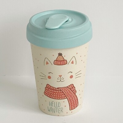 """BAMBOO CUP """"WINTER KITTY"""""""