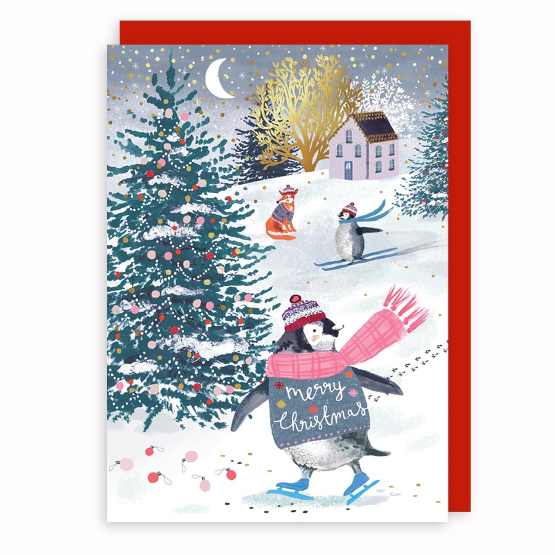 """CARTE DE NOËL """" MERRY CHRISTMAS"""""""