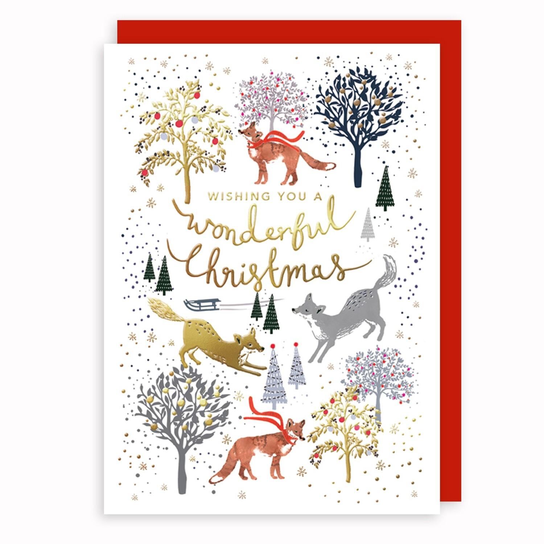 "CARTE DE NOËL "" WONDERFUL CHRISTMAS"""