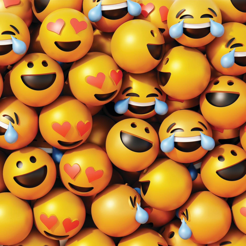 """CARTE DOUBLE PHOTO """"SMILEYS"""""""