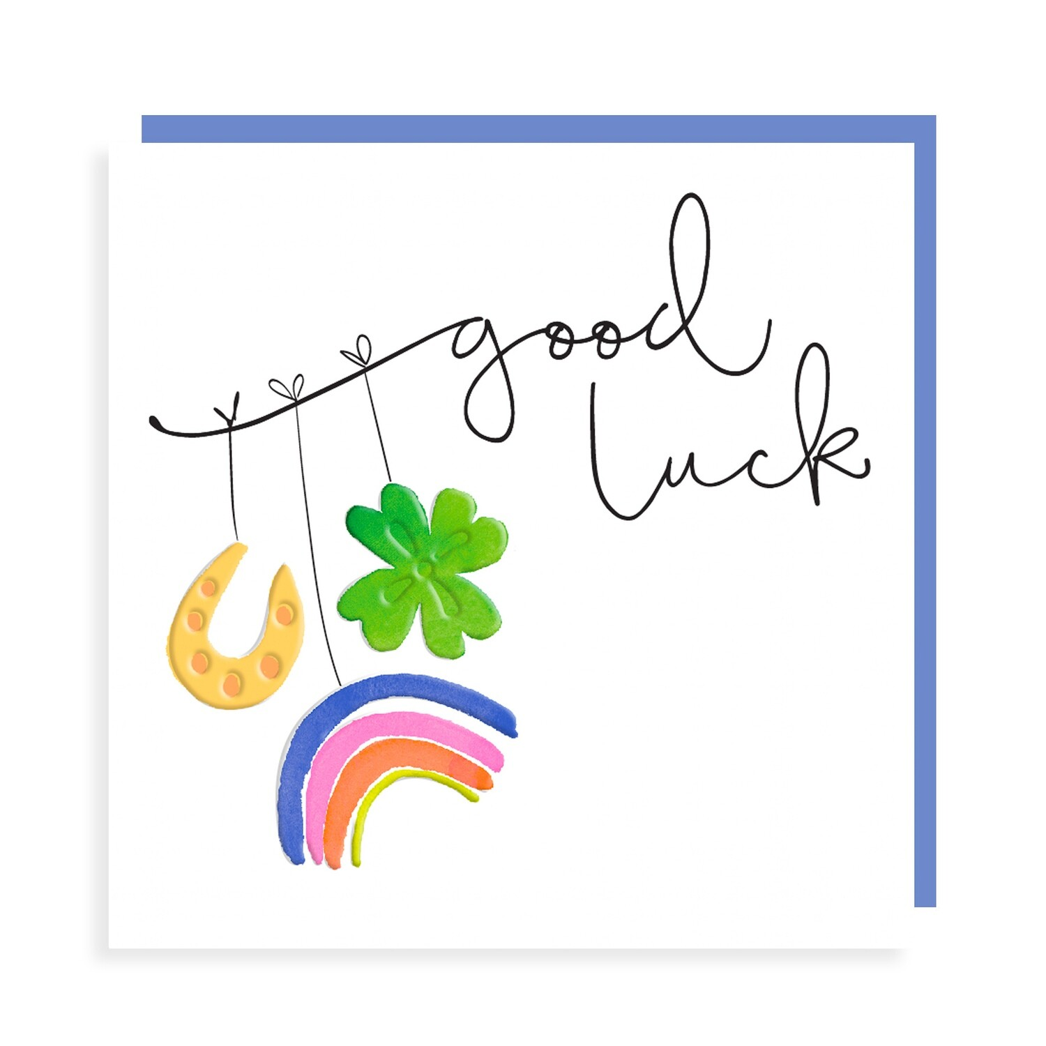 "CARTE DE VŒUX ""GOOD LUCK"""