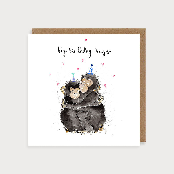 "CARTE DE VŒUX ""BIG HAPPY BIRTHDAY HUGS"""
