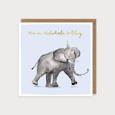 "CARTE DE VŒUX ""ELEPHANTASTIC BIRTHDAY"""