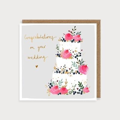 "CARTE DE VŒUX ""WEDDING CAKE"""