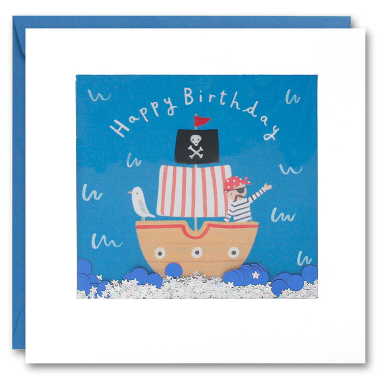 "CARTE DE VŒUX ""HAPPY BIRTHDAY PIRATE"""