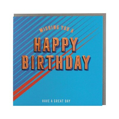 "CARTE DE VŒUX ""WISHING YOU A HAPPY BIRTHDAY"""
