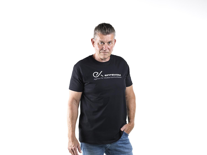 Shirt Herren B&C Schwarz
