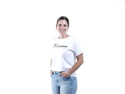 Shirt Damen B&C Basic Weiss