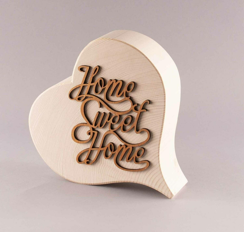 """Herz klassisch, groß """"Home sweet Home"""""""