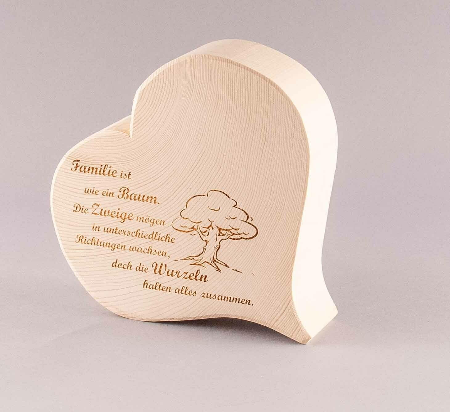 """Herz klassisch """"Familie ist wie ein Baum..."""""""