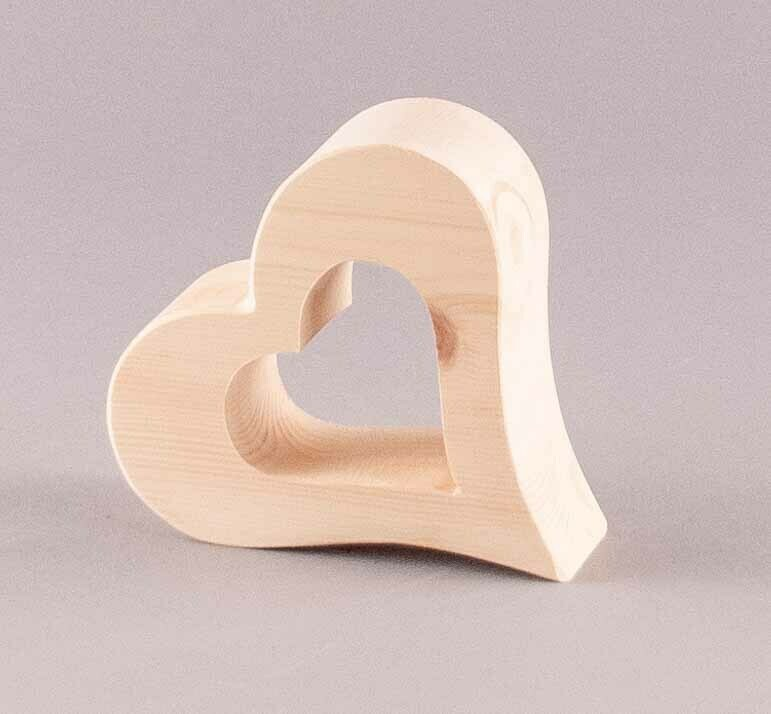 Zirbenherz in Herz (ohne Glas)