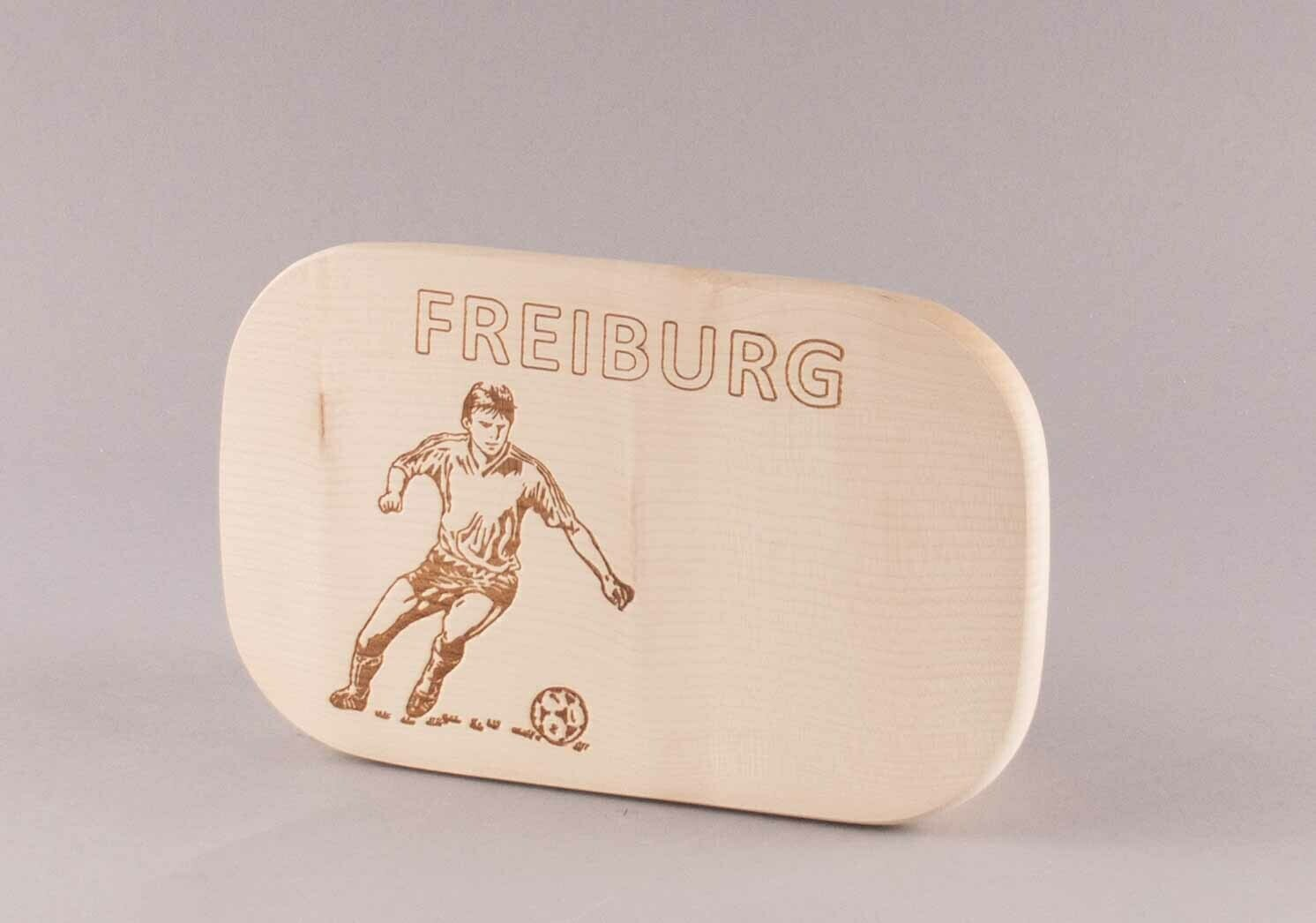 "Brotzeitbrett natur ""Fußball FREIBURG"""