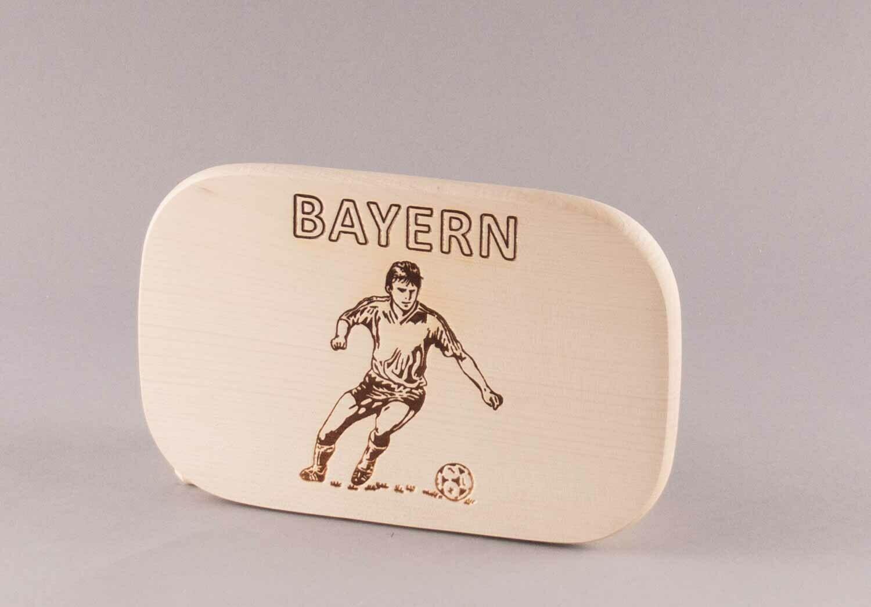 "Brotzeitbrett natur ""Fußball BAYERN"""