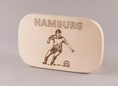"""Brotzeitbrett natur """"Fußball HAMBURG"""""""