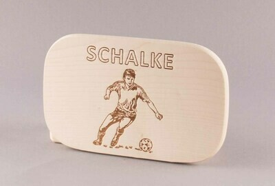 """Brotzeitbrett natur """"Fußball SCHALKE"""""""