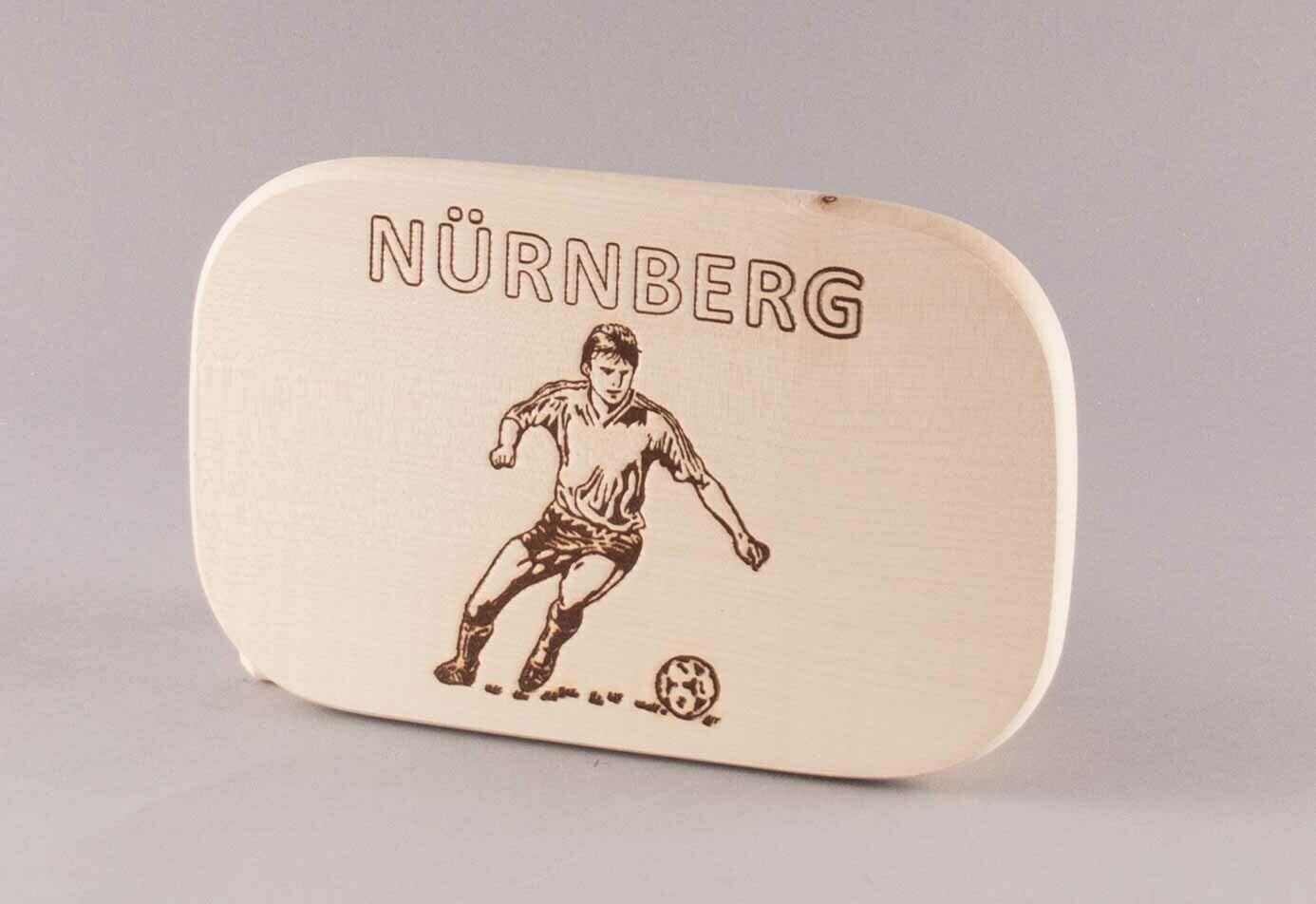 "Brotzeitbrett natur ""Fußball NÜRNBERG"""