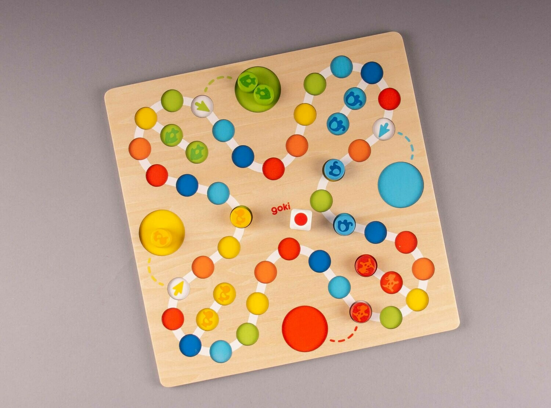 "GOKI ""Mein erstes Ludo"" Farb-Würfel-Spiel"