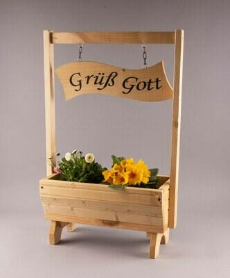 """Blumenkasten klein """"Grüß Gott"""""""