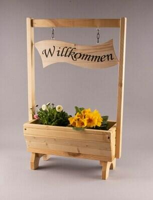 """Blumenkasten klein """"Willkommen"""""""