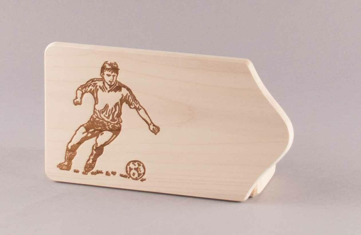 """Brotzeitbrett """"Fußballer"""" klein, natur"""