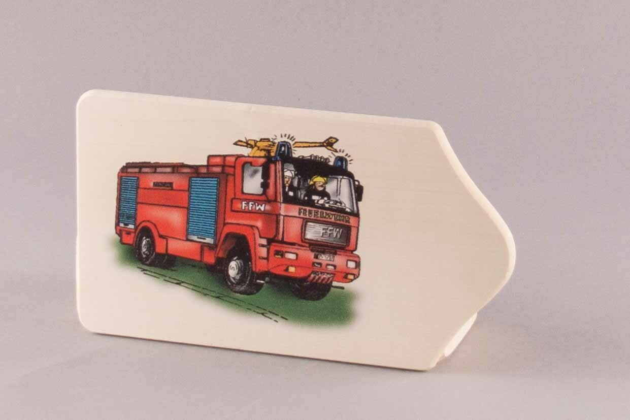 """Brotzeitbrett """"Feuerwehr"""" klein, farbig"""