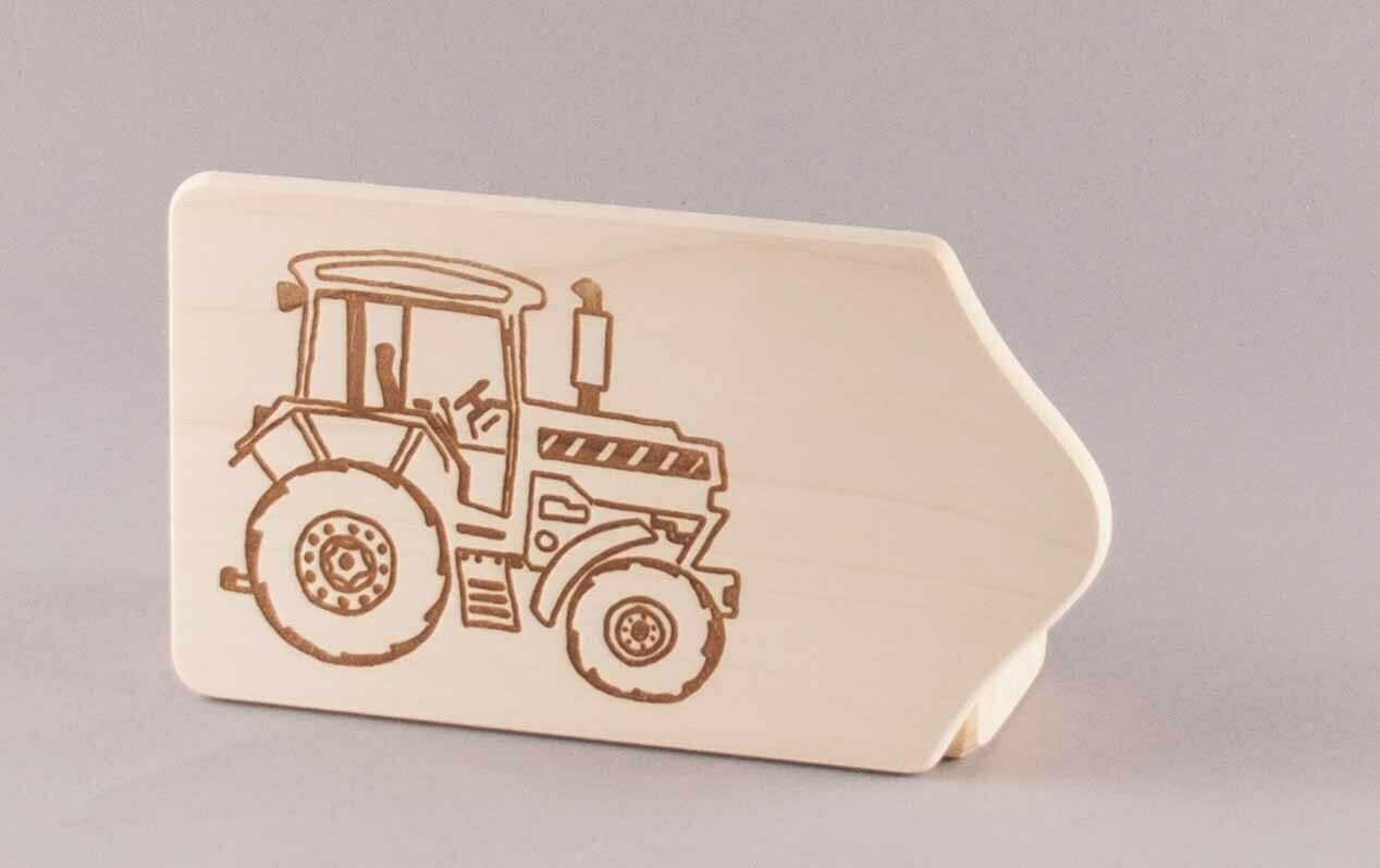 "Brotzeitbrett ""Traktor"" klein, natur"