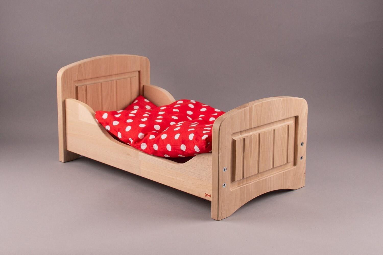 GOKI Holz-Puppenbett mit Decke