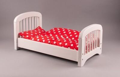 GOKI Holz-Puppenbett weiß mit Decke