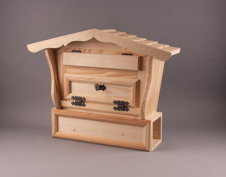 """Holz-Briefkasten """"Schindeldach"""""""