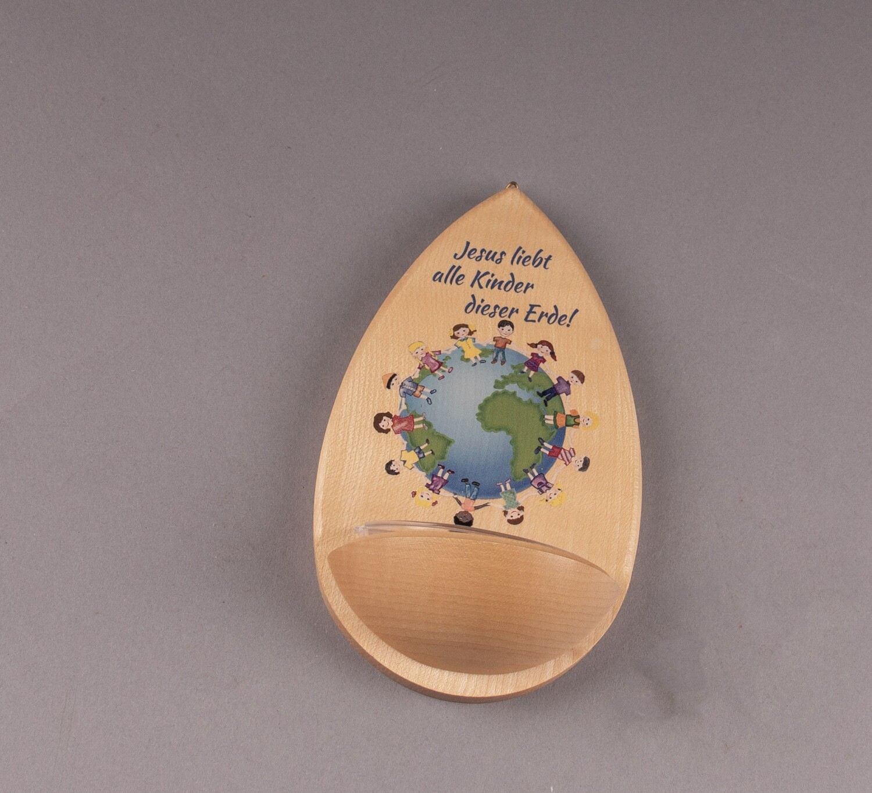 """Weihwasserkessel """"Jesus liebt alle Kinder dieser Erde"""""""