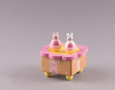 """Holz-Spieluhr """"Katzen rosa"""""""